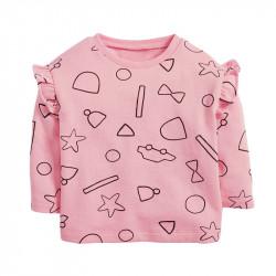 Кофта для девочки, розовая. Рисунки.