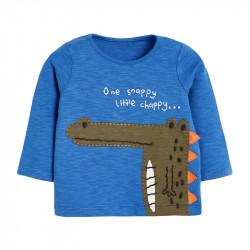 Кофта для мальчика, реглан, синяя. Маленький крокодил.