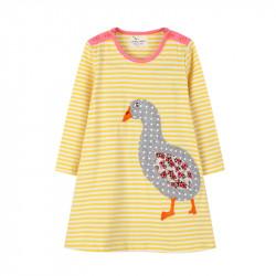 Платье для девочки, желтое. Гусочка.