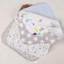 Полотенечко для новорожденного, платочек фланелевый 22 х 22 см. BOY (10 шт.)