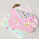 Полотенечко для новорожденного, платочек фланелевый 22 х 22 см. GIRL (10 шт.)