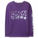 Кофта для девочки, джемпер, фиолетовый. Серебряные звезды.
