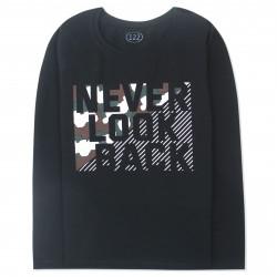 Кофта для мальчика, джемпер, черный. Never look back.