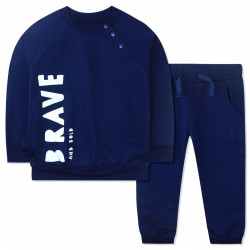 Костюм для мальчика, спортивный, синий. Brave and bold.