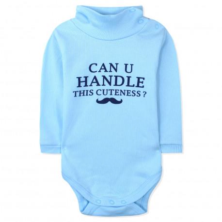 Боди детский под горло, голубой. Can u handle this cuteness.