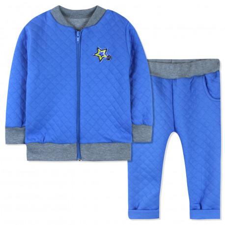 Костюм 2 в 1 для мальчика, синий. Мерцающая звездочка.