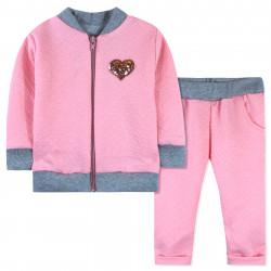 Костюм 2 в 1 для девочки, розовый. Мерцающее сердце.