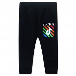 Штаны для мальчика, черные. Тик Ток.