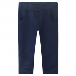 Штаны для мальчика, спортивные, темно-синие. Однотон.
