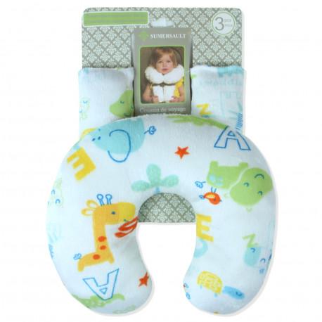 Подушка под шею с накладками на ремень для новорожденного.