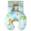 Подушка под шею с накладками на ремень для новорожденного. Животные и цифры.