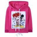 Утепленная кофта для девочки, худи, розовая. Гламурный Микки Маус.
