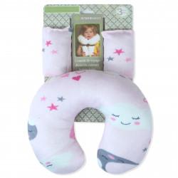 Подушка под шею с накладками на ремень для новорожденного. Облачко.