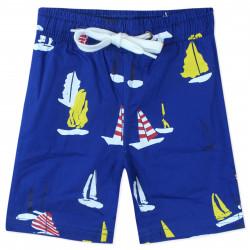 Шорты для мальчика, синие. Яхты.