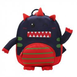 Детский рюкзак, темно-синий. Милый монстрик.