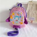 Детский рюкзак, фиолетовый. Ракета и космическая девочка.