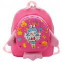 Детский рюкзак, розовый. Ракета и космическая девочка.