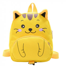 Детский рюкзак, желтый. Маленький котенок.