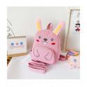 Детский рюкзак, розовый. Маленький зайчик.