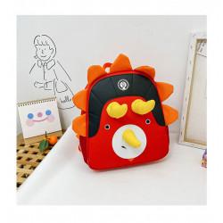 Детский рюкзак, красный. Милый трицератопс.