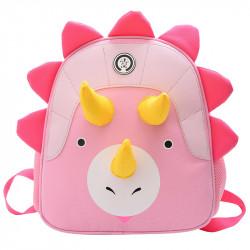 Детский рюкзак, розовый. Милый трицератопс.