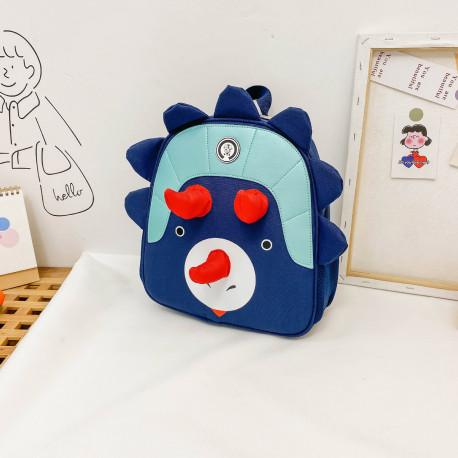 Детский рюкзак, темно-синий. Милый трицератопс.