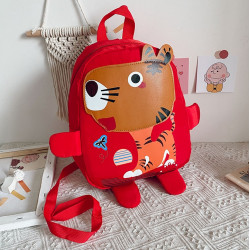 Детский рюкзак, красный. Озорной тигренок. ( без поводка )