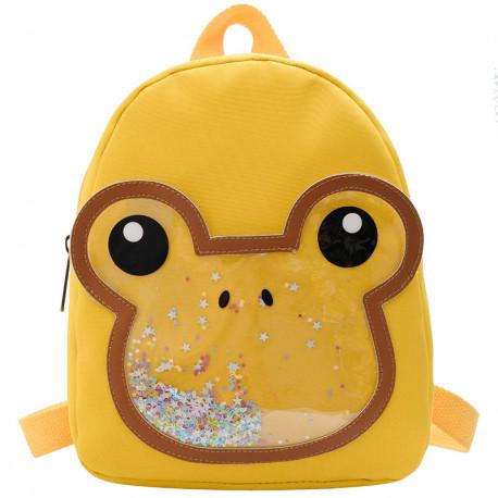 Детский рюкзак, желтый. Лягушка.