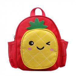 Детский рюкзак, красный. Ананасик.