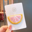 Заколка для волос, розовая. Махровый грейпфрут.