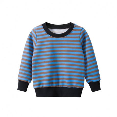 Кофта для мальчика, свитшот, синяя. Полосочка.