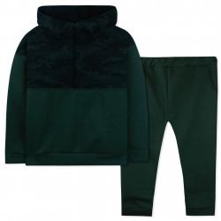 Утепленный костюм 2 в 1 для мальчика, темный хаки. Камуфляж.