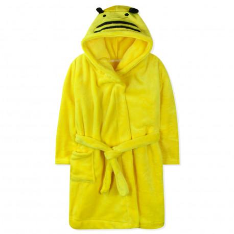 Халат махровый, желтый. Пчёлка.