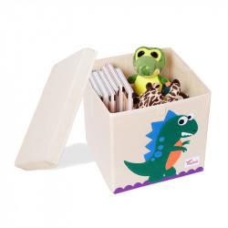 Складной ящик для игрушек со съемной крышкой. Дино.