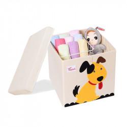 Складной ящик для игрушек со съемной крышкой. Пёс.