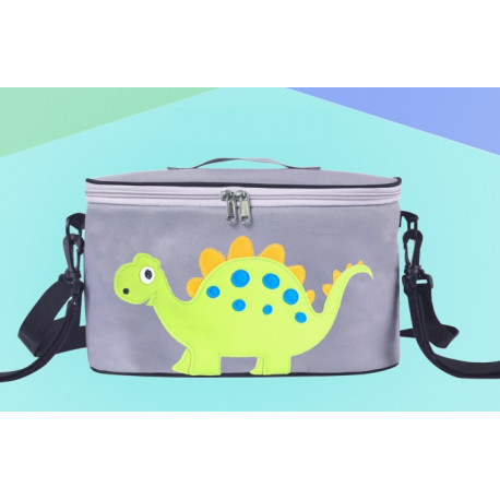 Сумка - багажник для коляски, карман на коляску на молнии. Стегозаврик.