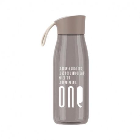 Бутылка пластиковая, коричневая. ONE. 480 мл.