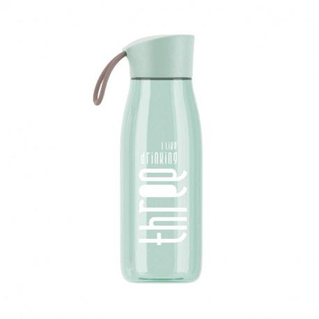 Бутылка пластиковая, мятная. THREE. 480 мл.