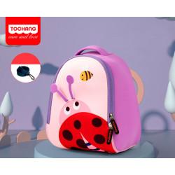 Детский рюкзак, розовый. Божья коровка. S.