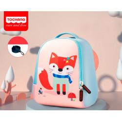 Детский рюкзак, голубой. Милая лисичка. S.