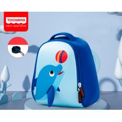 Детский рюкзак, синий. Дельфин и мяч. S.