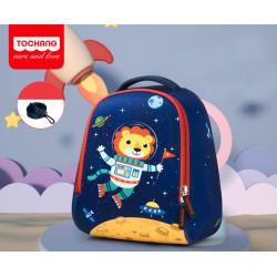Детский рюкзак, темно-синий. Лев - космонавт. S.
