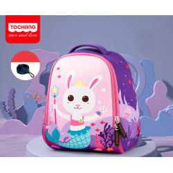 Детский рюкзак, фиолетовый. Зайчик - русалка. S.