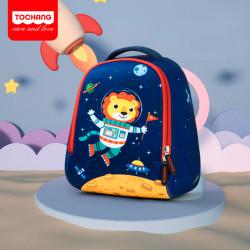 Детский рюкзак, темно-синий. Лев - космонавт. L.