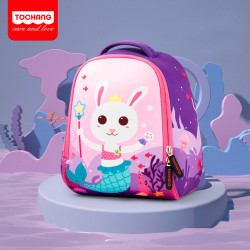 Детский рюкзак, фиолетовый. Зайчик - русалка. L.