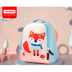 Детский рюкзак, голубой. Милая лисичка. L.