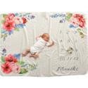 Одеяло ростомер, для новорожденных. 102*152 см. Прекрасные розы.