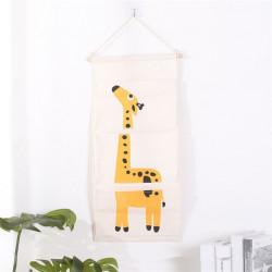 Подвесной органайзер с карманами, белый. Жираф. (3 кармана)