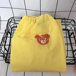 Чехлы на ножки, непромокаемые, желтые. Медвежонок.