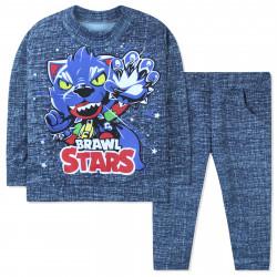 Костюм для мальчика, синий. Brawal Stars.